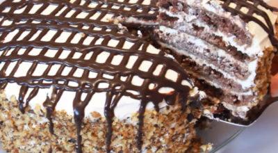 Высокий торт на сковороде: Вкусный пышный и нежный