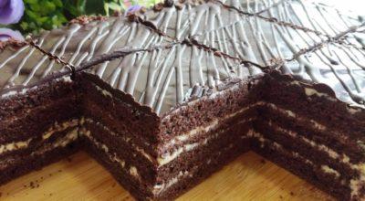 Я просто влюбилась в этот пирог. Нежный и шоколадный пирог к чаю