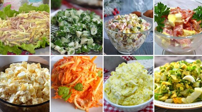 Рецепты вкусных салатов с яйцами!