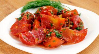 6 лучших рецептов помидоров по-корейски, в том числе на зиму