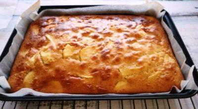 Яблочный пирог за 20 минут. Простой и вкусный