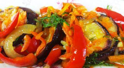 Гости всегда просят рецепт этих баклажанов. Легкая, пикантная, ароматная закуска из баклажан