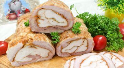 Как превратить мясо в изысканное блюдо. Готовлю рулет из двух видов мяса, про больше колбасу не вспоминаю