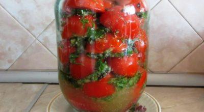 Маринованные половинки томатов в масле на зиму. О такой вкуснятине можно только мечтать