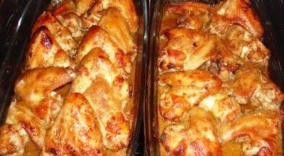 Ароматные куриные крылышки запеченные в пиве