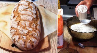 Бездрожжевой домашний хлеб на кефире
