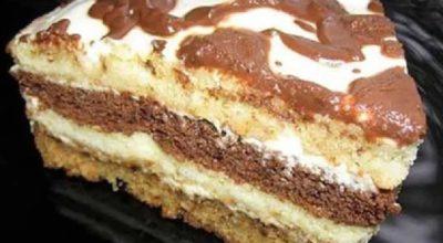 Домашний сметанный тортик из маминой тетрадки