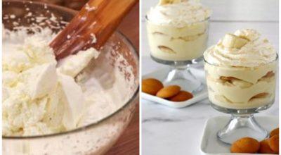 Легкий творожный крем всего за 5 минут. Вкуснятина с бананами для вашей фигуры
