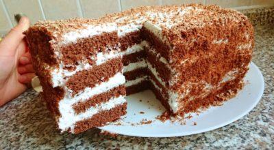 Невероятно вкусный торт шоколадный медовик без раскатки коржей