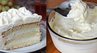 Нежнейший молочный крем для пирожных и тортов