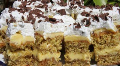Нежный торт «Петре Роман» — это ореховые коржи с молочным кремом и карамелью