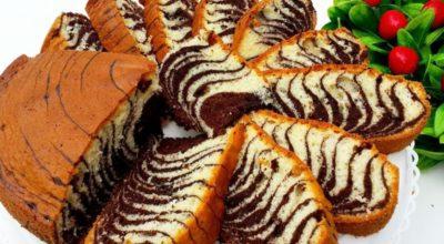 Пирог Зебра. Самый удачный рецепт — получится у всех