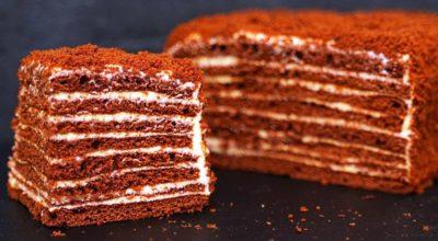Шоколадный медовик – торт Спартак. Всего за 40 минут самым быстрым способом
