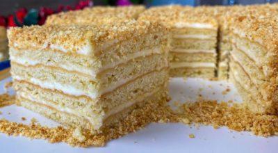 Торт «Деревенский». Сметанник: просто, быстро и вкусно