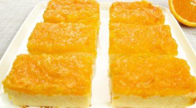 Творожная запеканка с апельсином, без муки и яиц. Полезный десерт