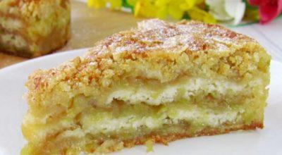 Яблочная вкуснотень: пирог тающий во рту. Простой и быстрый рецепт