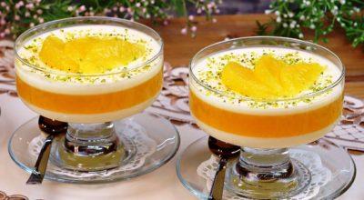 Освежающий сливочно – апельсиновый десерт. Вкуснее всего из натурального сока