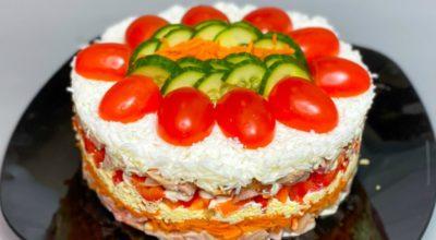 Салат на любой праздничный стол. Оригинальное сочетание продуктов