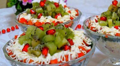 Самый праздничный салат. Вкуснейшее украшение стола