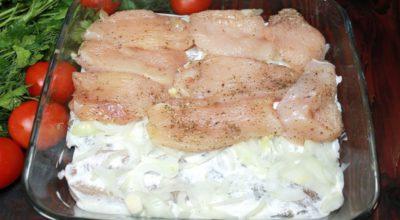 Самый простой и вкусный рецепт из куриного филе в духовке