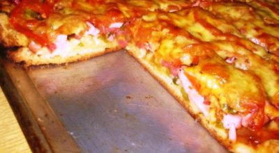 Все просто и быстро. Заливная пицца на майонезе в духовке