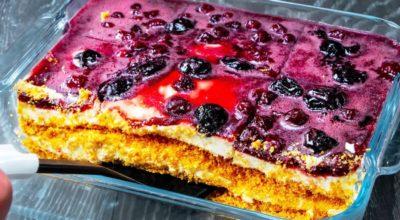 Вы больше не сможете жить без этого десерта. Идеальный торт без выпечки