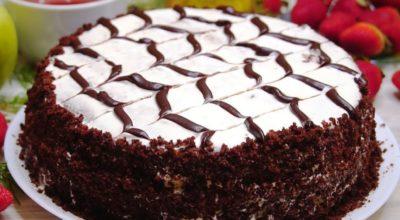 Очень шоколадный торт из простых продуктов