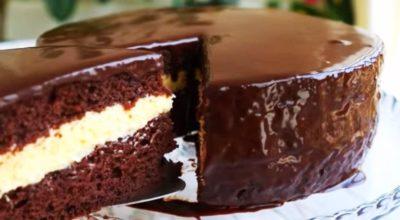 Рецепт шоколадного торта с нежным кремом «Эскимо»