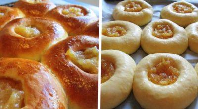 Рецепт ватрушек с яблочным вареньем