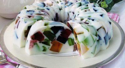Торт Битое стекло на сметанном желе