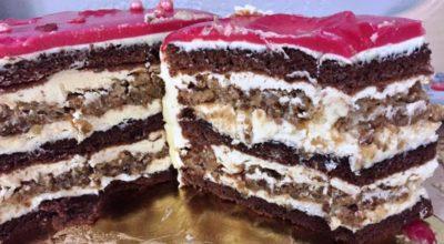 Торт орехово – шоколадный