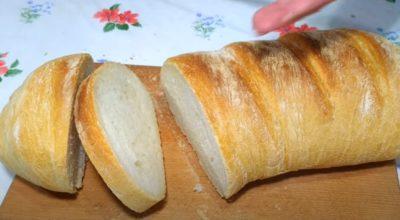 Хрустящий хлеб в рукаве