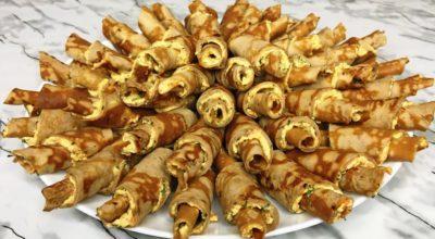 Рулетики из печени, праздничная закуска
