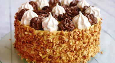 Торт «Полет» с безе и орехами. Для всех любителей безе