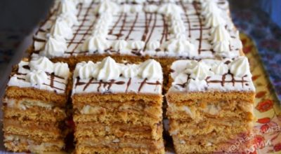 Торт «АРЛЕКИН»- вкуснейший союз «МЕДОВИКА» и «НАПОЛЕОНА»