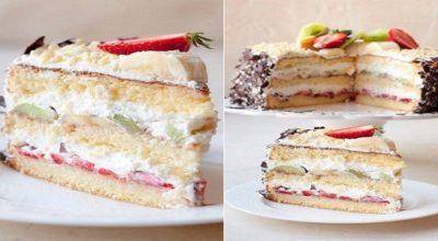 ТОРТ «САМА НЕЖНОСТЬ». Очень вкусный, легкий бисквитный торт с кремом Маскарпоне