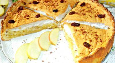 Вкуснейший, нежный яблочный пирог с безе — пальчики оближешь