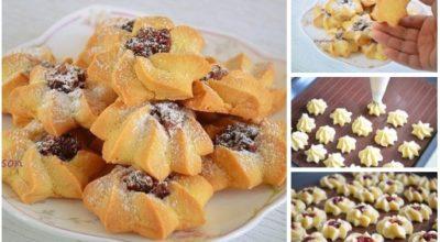 Вкусное, рассыпчатое и нежное печенье «Курабье».  Готовится просто и быстро