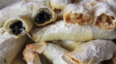Обалденные рогалики — тончайшее, хрустящее тесто и много сладкой вкусной начинки