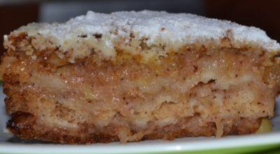 Насыпной яблочный пирог «Три стакана»: простой и вкусный, без молока и яиц