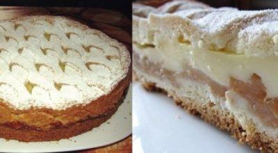 Просто великолепный яблочный пирог с нежным кремом. Нежный и сочный