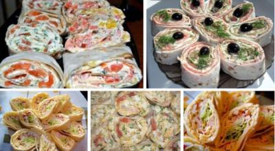 Закуски из лаваша — красиво, очень просто и невероятно вкусно
