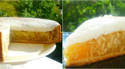 «Янтарный лучик» — красивейший пирог с богатой яблочной начинкой. Так и светится весь