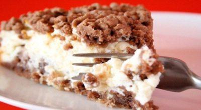 Очень аппетитный десертик — тертый чизкейк