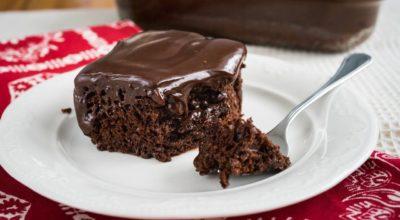 Ароматный шоколадный пирог с ганашем