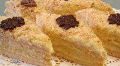 Нежное пирожное с творожным суфле